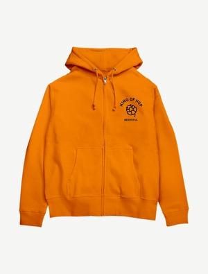 【KING OF HOP】ジップパーカー(オレンジ)