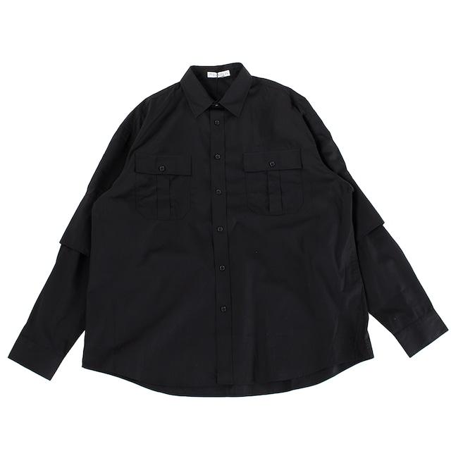JW ANDERSON Double Cuffs Shirt Black