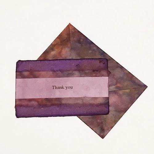 和紙のサンキューカード(Thank you010)
