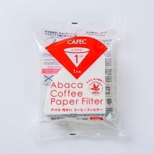 アバカ 円すい コーヒーフィルター cup1〈1杯用〉(100枚入)ホワイト AC1-100W