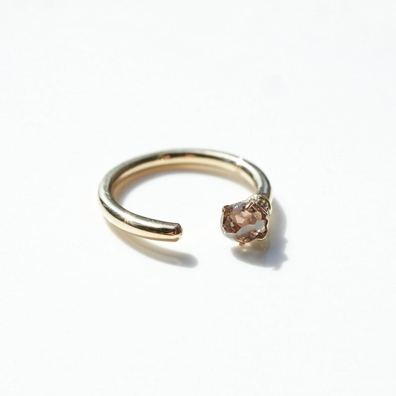 Torch ring Brown Dia - 0.67ct