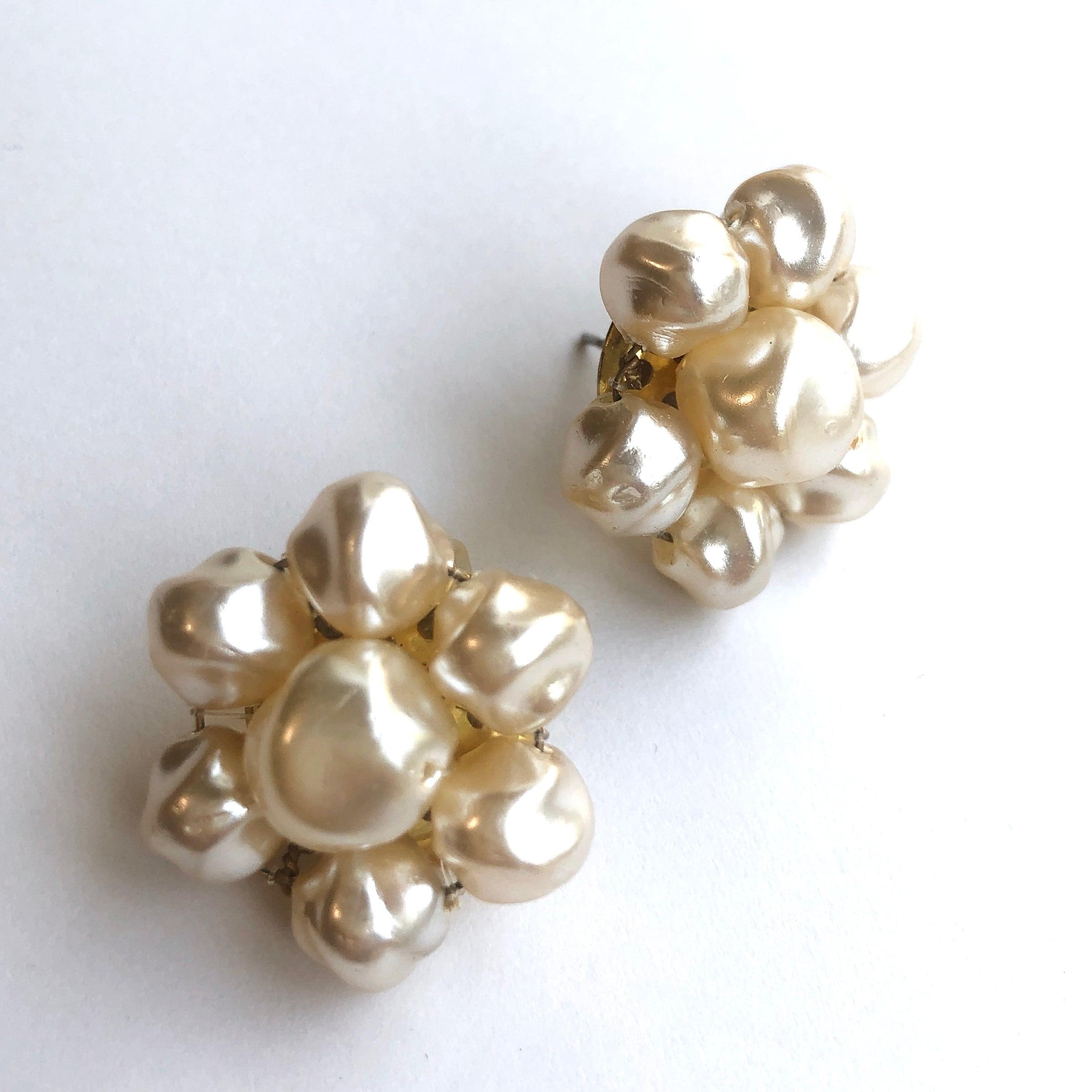 Baroque pearl earrings L-059