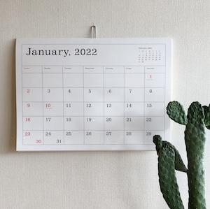 葛西薫カレンダー 2022(罫線あり)