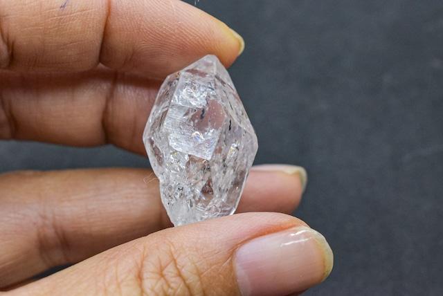 透明感と虹★ハーキマー水晶hark005
