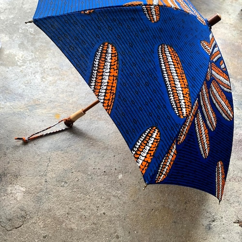 BonBonStore アフリカンバティック長傘B(日傘)