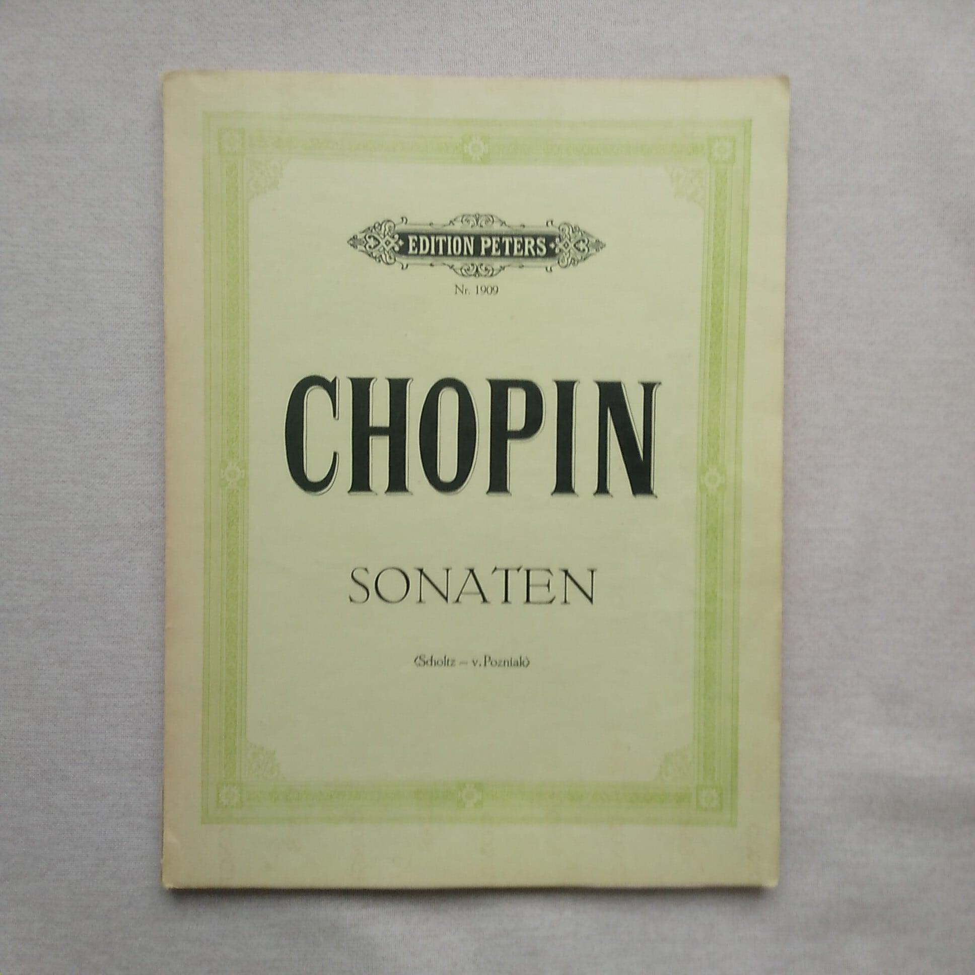 <輸入版楽譜>ショパン : ピアノ・ソナタ集/ペータース社