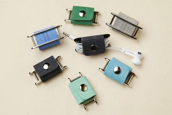 イヤホンコードホルダー □コバルトブルー□ イタリアンレザー earphone cord holder - 画像2