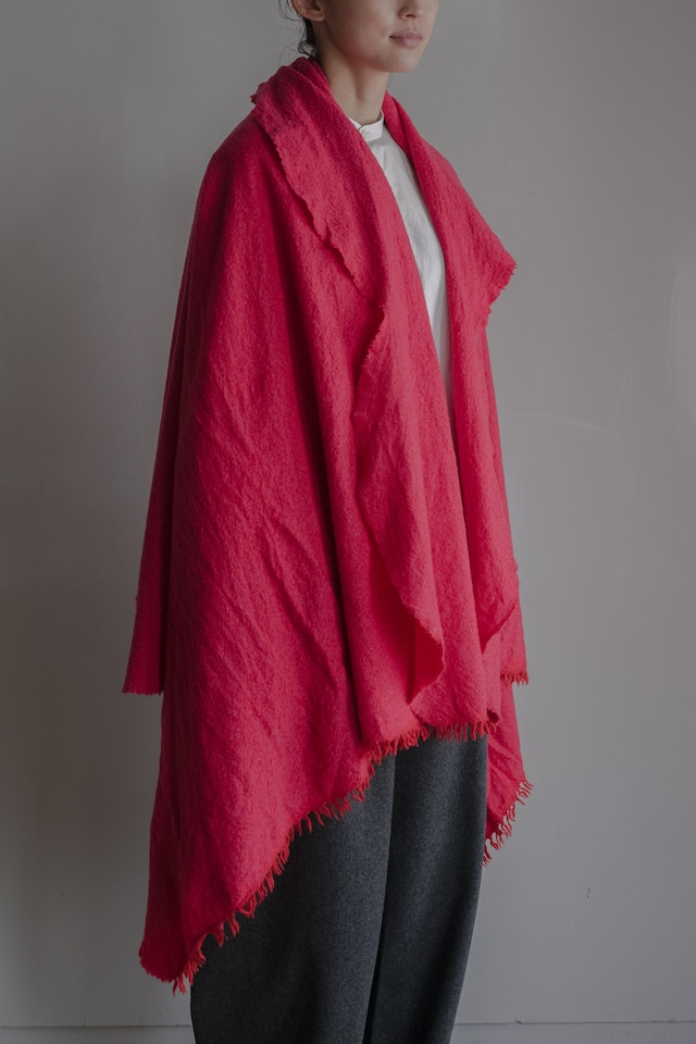 01602-4 chambray cut stole / red,pink