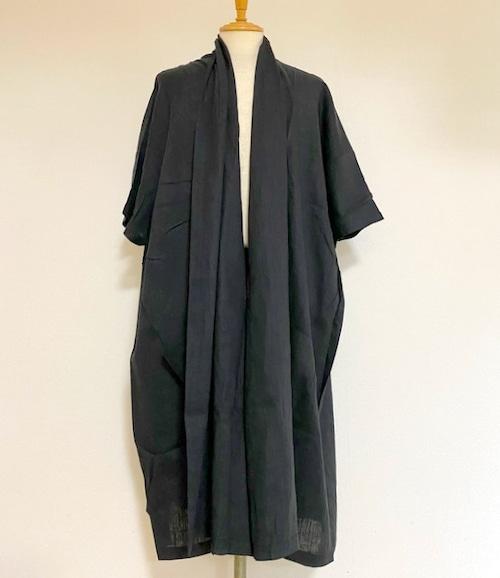 3/4 Sleeve Gown Black