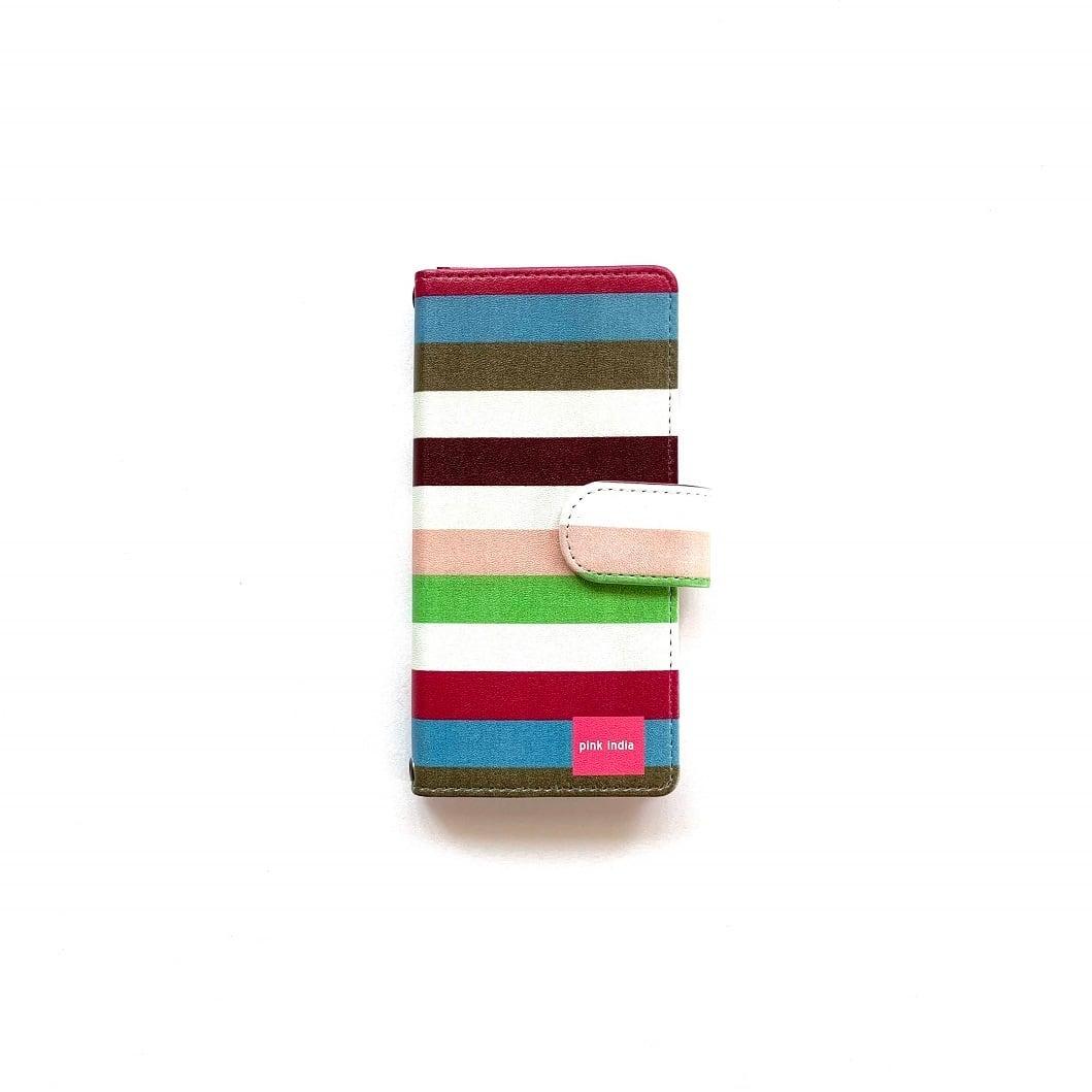 北欧デザイン iPhone手帳型ケース  | stripe2