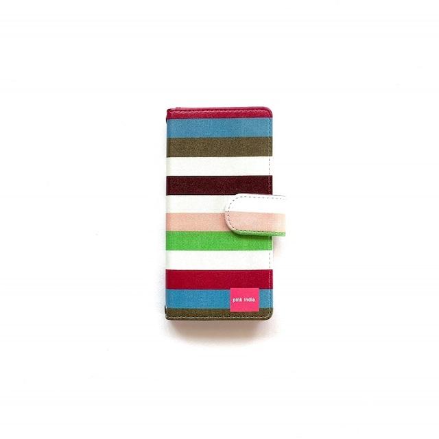 北欧デザイン iPhone手帳型ケース    stripe2
