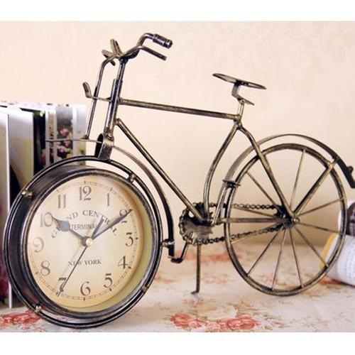 アンティーク自転車時計 インテリア クロック 自転車 デザイン レトロ 古い 時計 置き時計 お洒落 装飾 飾り 雑貨 置き時計 ヨーロピアン ビンテージ ヴィンテージ cw-a-647
