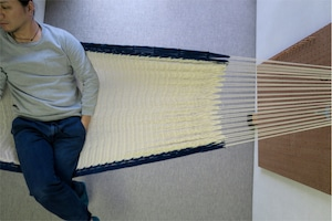 """ハンモック  """"Bed-mock""""  ( Plain × Aizome line )    Size-S  (180cm)"""