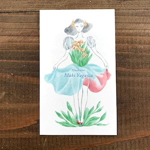 セミオーダー名刺 花とご挨拶