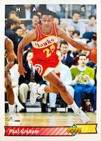 NBAカード 92-93UPPERDECK Paul Graham #146 HAWKS