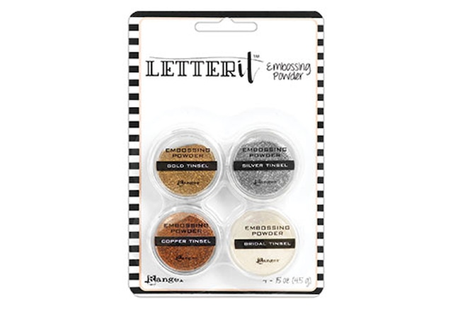 Ranger Letter It Embossing Powder Set - Tinsels /エンボスパウダ-セット