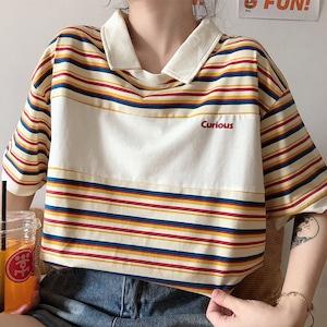 ワイドボーダーポロシャツ