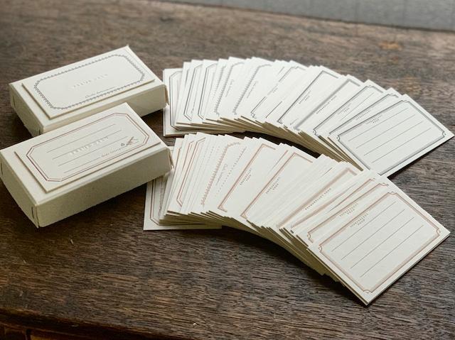 【活版印刷】 FRAME card box  Bronze / Black(6種5枚ずつ 30枚入り)