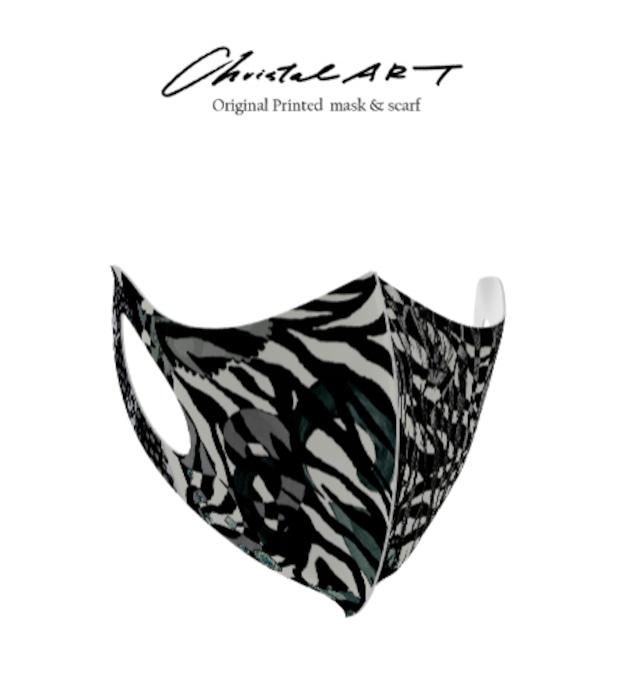 ◆受注生産◆オリジナルプリントマスク◆オシャレなシマウマ柄