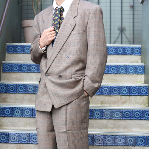 .Christian Dior CHECK PATTERNED DOUBLE SET UP SUIT/クリスチャンディオールチェック柄セットアップスーツ2000000055657