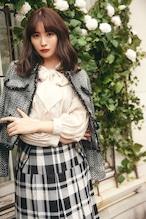 Wool-Blend Fancy Tweed Jacket