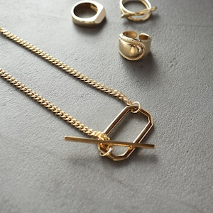 NECKLACE || 【通常商品】 STICK AND OCTAGON NECKLACE || 1 NECKLACE || GOLD || FNOAL1205G