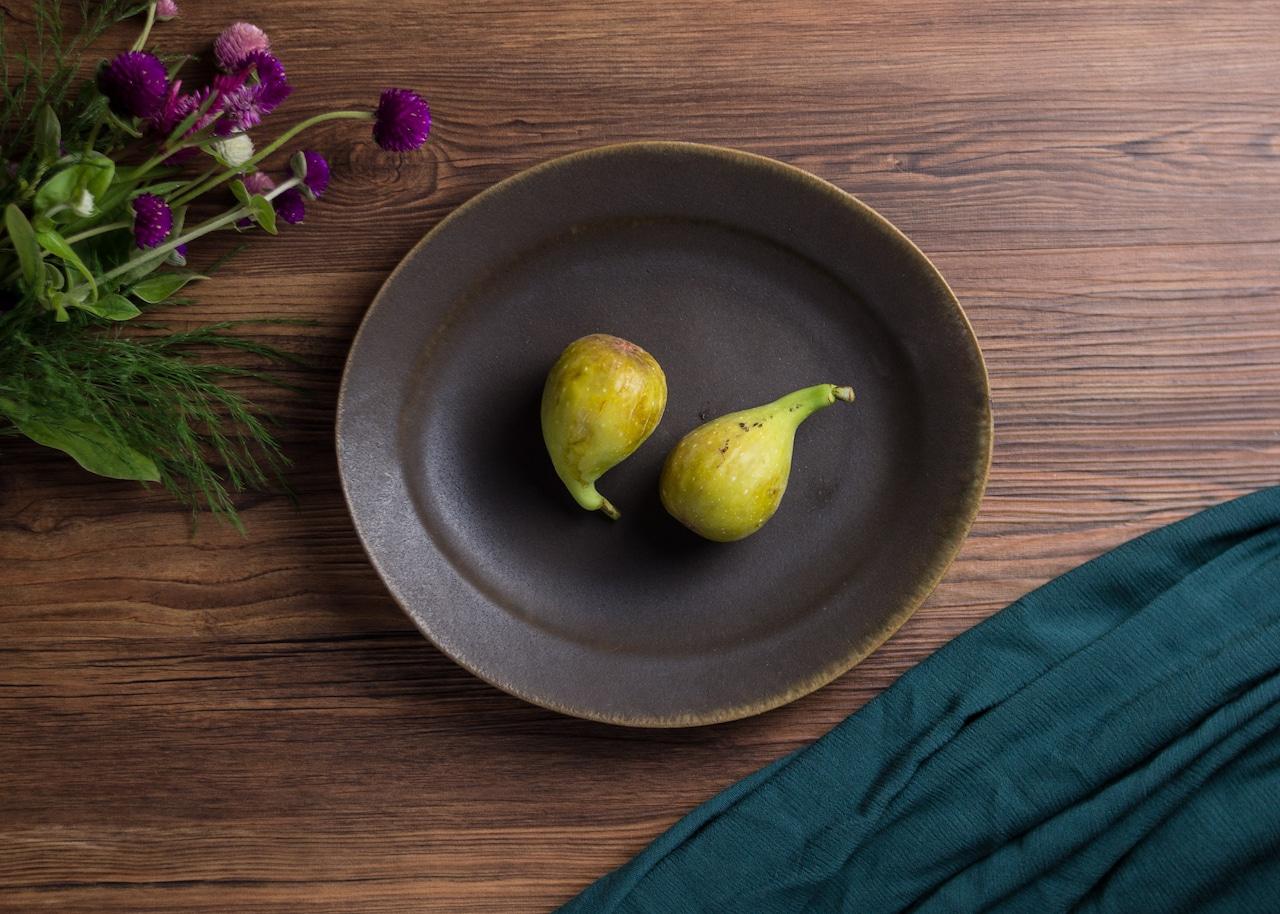 サビ釉 楕円リム皿 ⼤(信楽焼・オーバル・大皿)/古谷 浩一