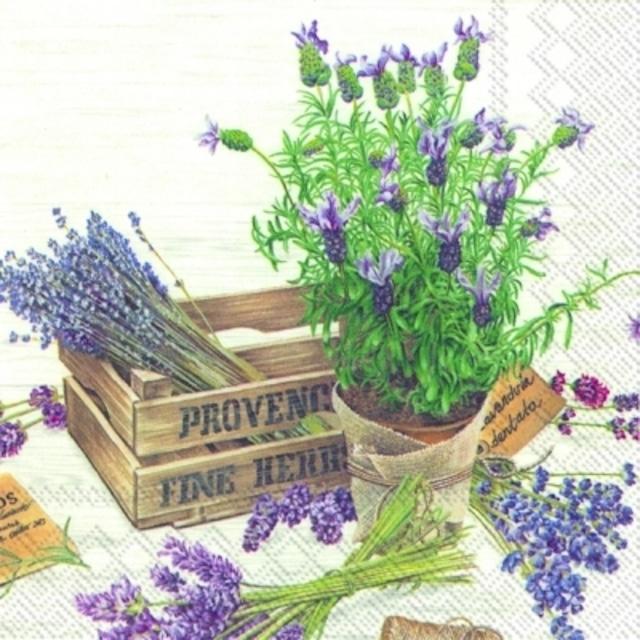 【IHR】バラ売り2枚 ランチサイズ ペーパーナプキン THE FLAVOUR OF PROVENCE ラベンダー