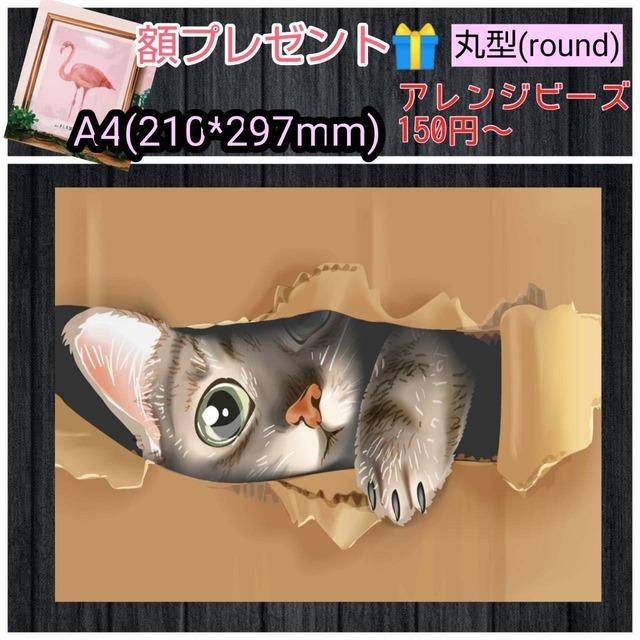 A4サイズ 丸ビーズ(round)【r9872】額縁プレゼント付き♡フルダイヤモンドアート