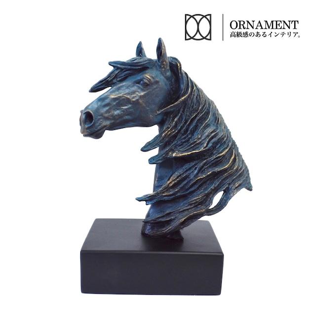 たてがみなびく馬 頭部 置物 動物 bd0546 彫刻 ウマ うま オーナメント アニマルトロフィー 輸入雑貨 インテリア アニマル 高級感 オブジェ モダン ラグジュアリー 鬣 ナイト チェス