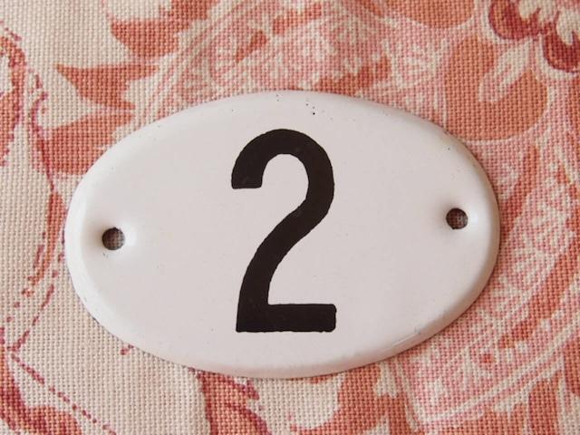 アンティーク 琺瑯ナンバープレート(5個セット)