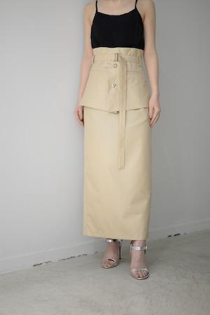 ROOM211 / Belt Skirt (beige)