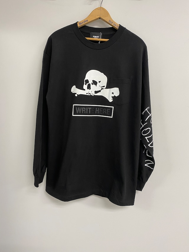 TODAY edition / WRITE HERE ♯2 LS T-SHIRTS(BLACK)