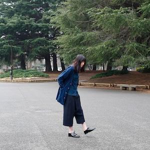 [ボタニカルダイ] ゴボウ&ログウッド染めのノーカラー・別珍コート 8514-08010-35