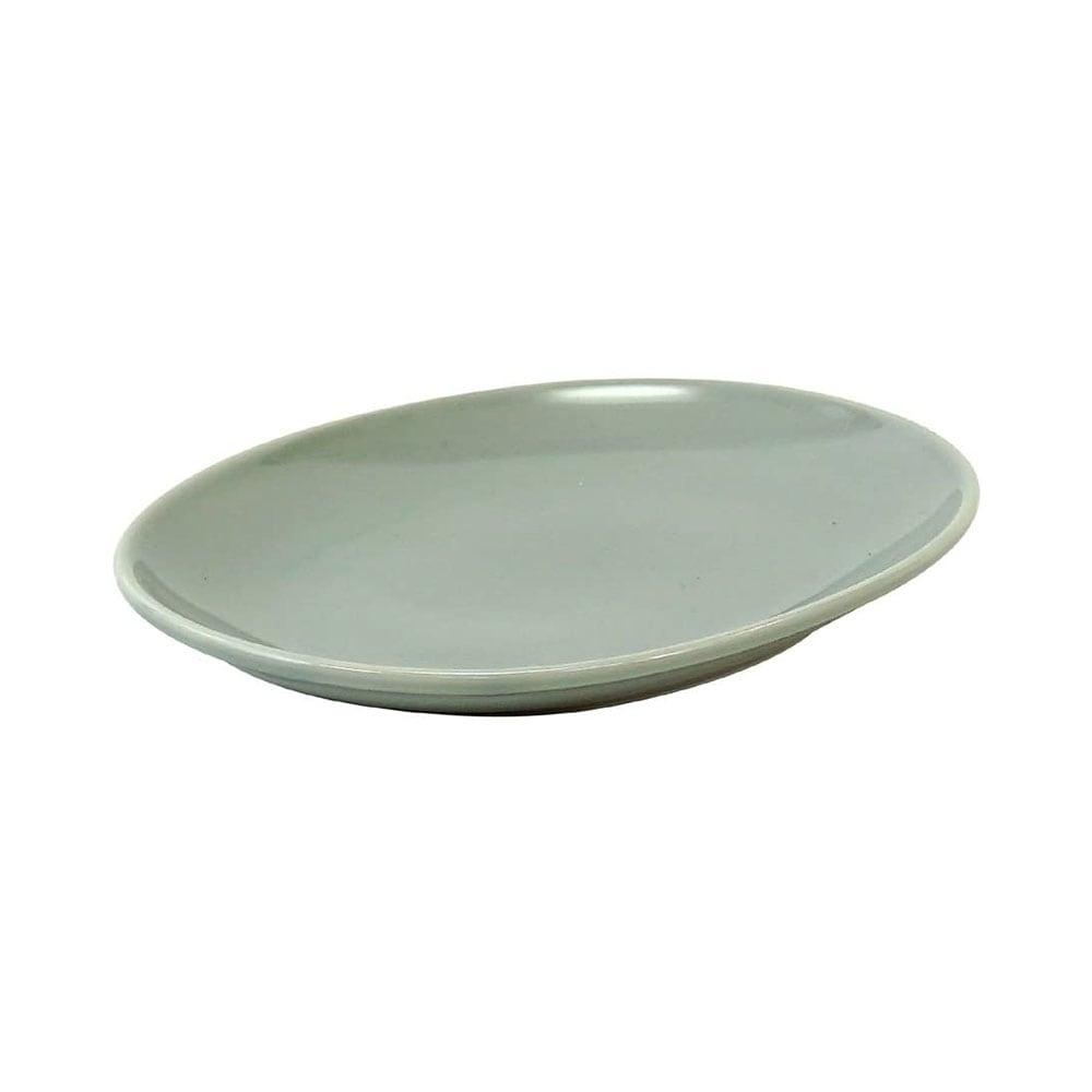 西海陶器 波佐見焼 「コモン」 オーバルプレート 皿 190mm グレー 17041