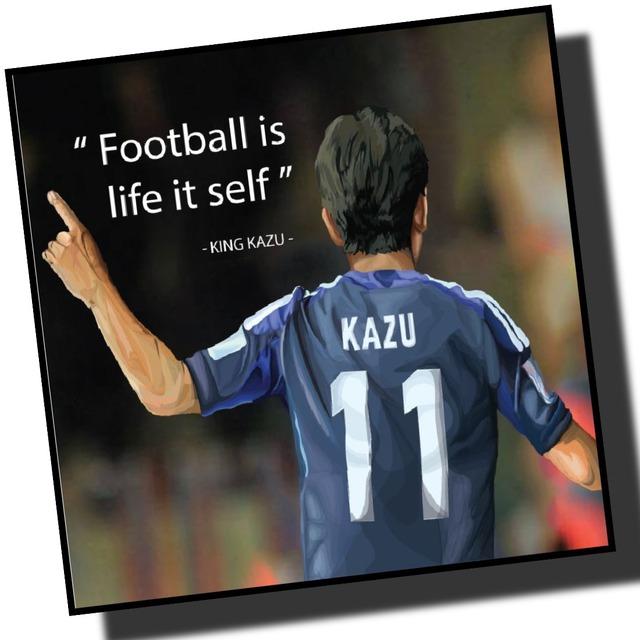 キングカズ 三浦知良 日本代表 サッカーアートパネル 木製 壁掛け ポスター グラフィックアート ポップアート (001-179)