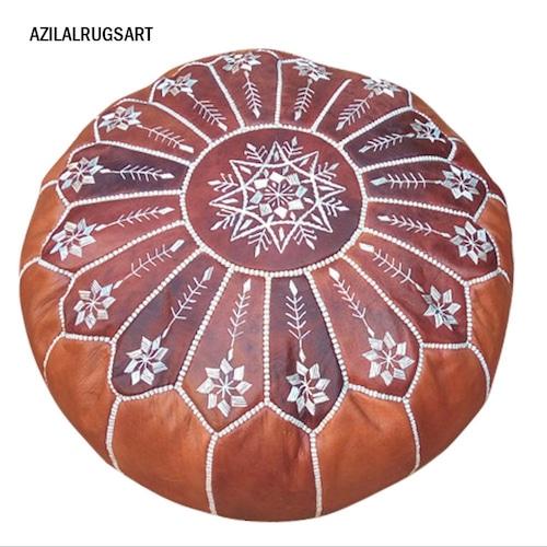 モロッカンプフ 刺繍有り 中身綿なし(オイルあり)POUF