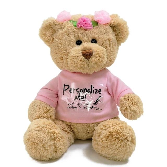 【GUND】花冠Tシャツベア ピンク