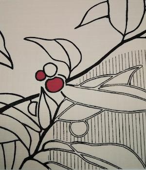 はるか870(1枚柄) 桜桃 織物ふすま紙 203cm×98cm 1枚 アート調絵柄
