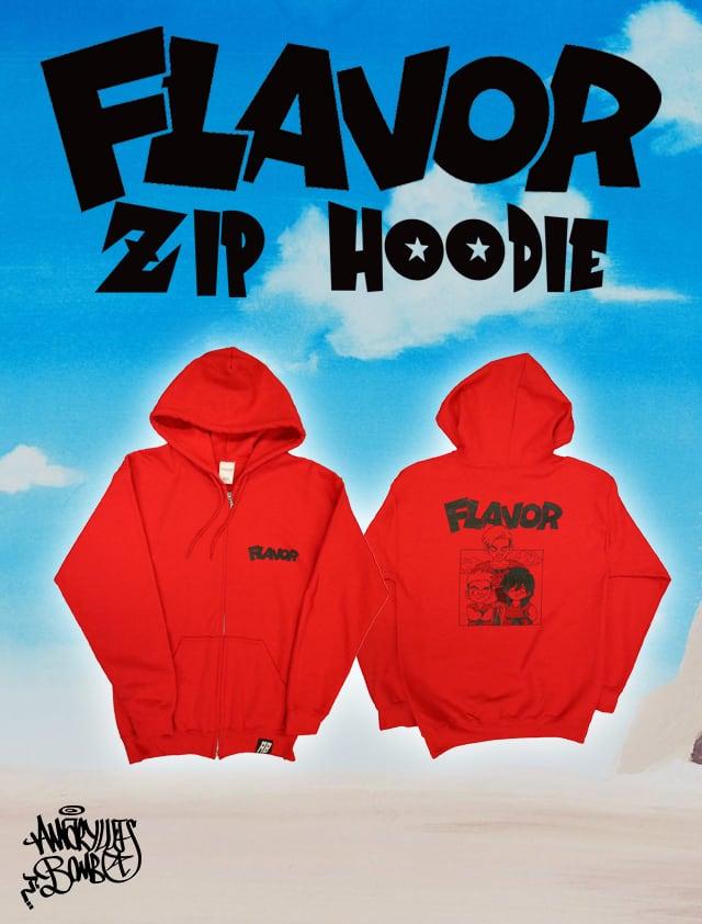 FLAVOR ZIP HOODIE -Red-