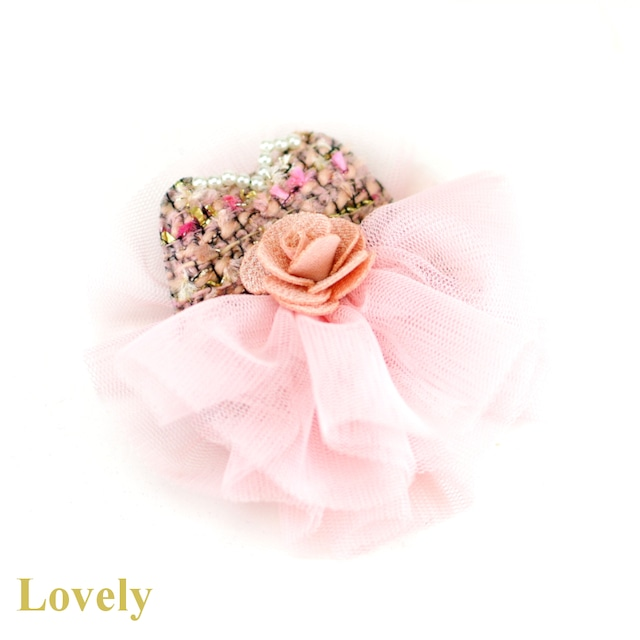 【ブローチ】COCOカメリアドレス ブローチ・ピンク