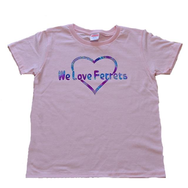 we Love Ferrets Tシャツ 5001-03 rainbow