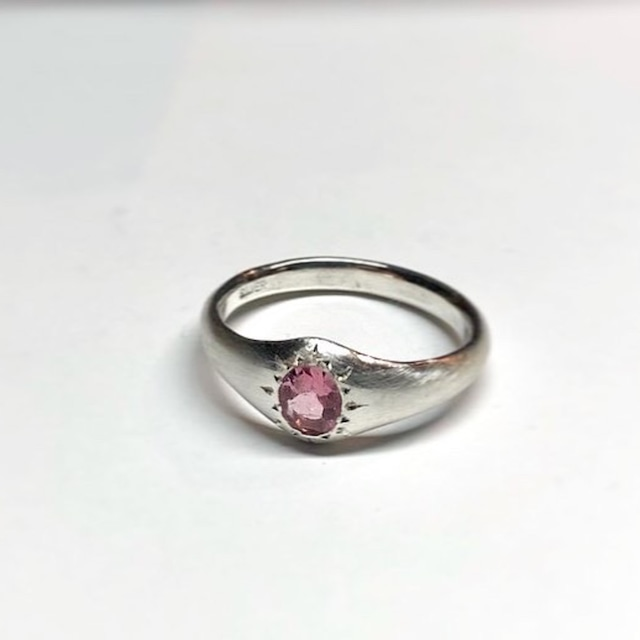 【2OMSV】『One off』 Pink tourmaline oval facet cut ring