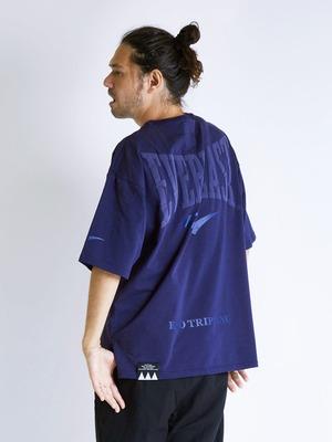 EGO TRIPPING (エゴトリッピング) EVERLAST×EGO TRIPPING T-SHIRTS エバーラスト×エゴトリッピングTシャツ / BLUE×BLUE 663781-82