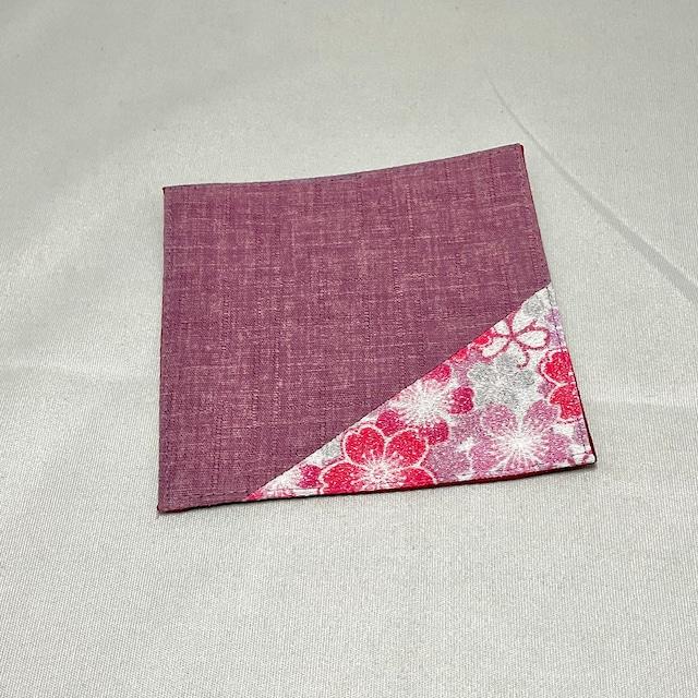 【ワーキングオフィス】布コースター・颯香(薄紫・赤紫)IKI1483