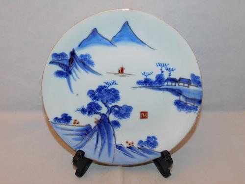 色絵山水五寸皿 porcelain  plate