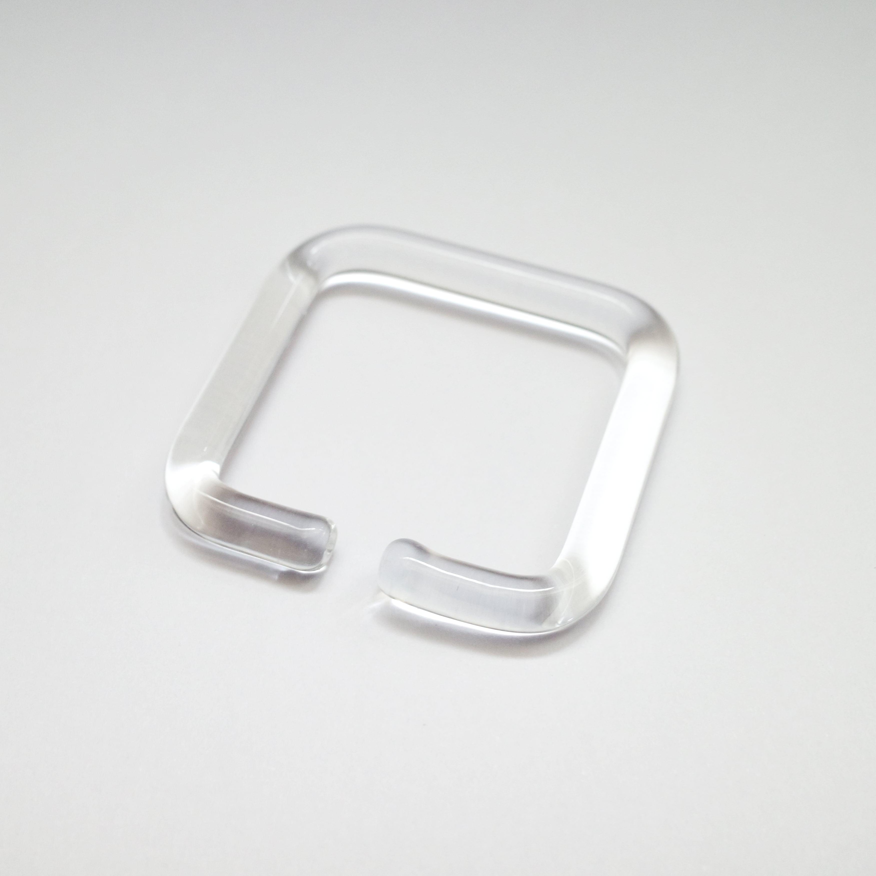 _cthruit シースルーイット ear cuff (S) イヤーカフ □(四角形) 【Clear】