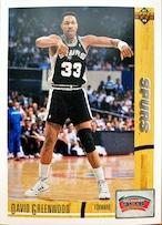 NBAカード 91-92UPPERDECK David Greenwood #374 SPURS