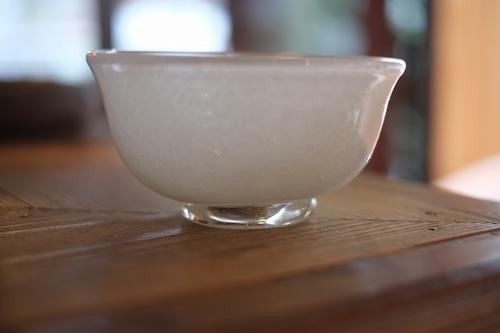 ◆三宅吹硝子工房◆三宅義一◆◆◆『吹き硝子の茶碗・(泡)』◆◆◆