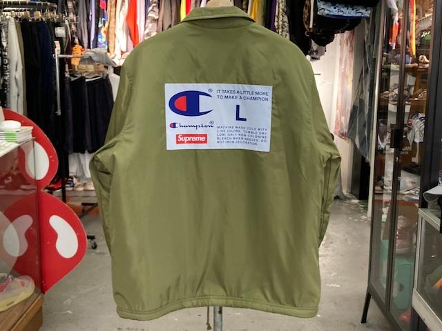 Supreme × CHAMPION COACHES JACKET OLIVE LARGE 70KF6701